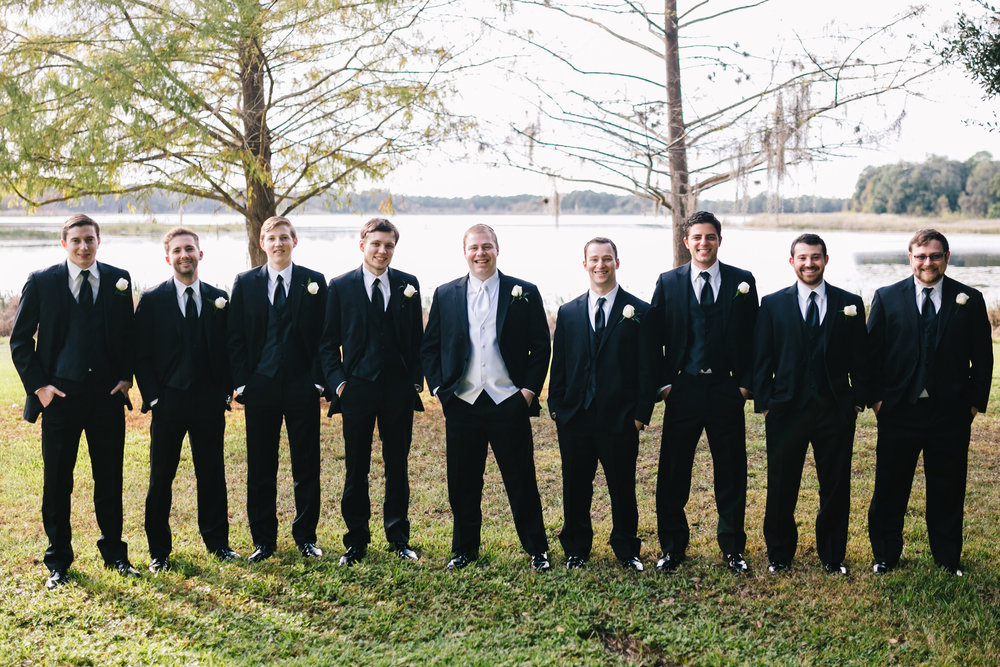 Dapper groomsmen Lake Mary Wedding
