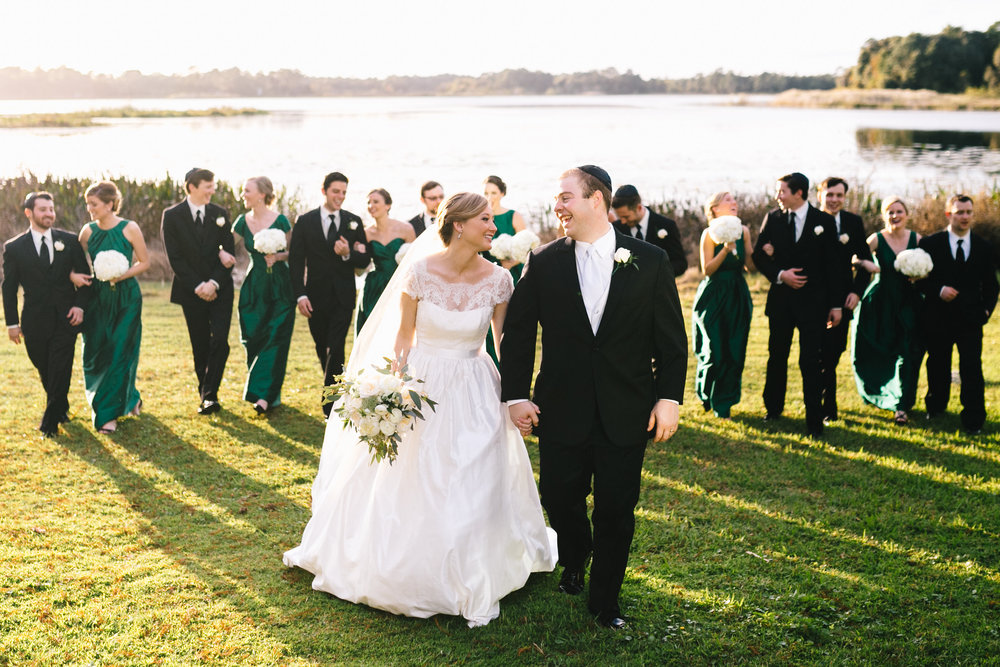 Bridal Party Lakeside Wedding