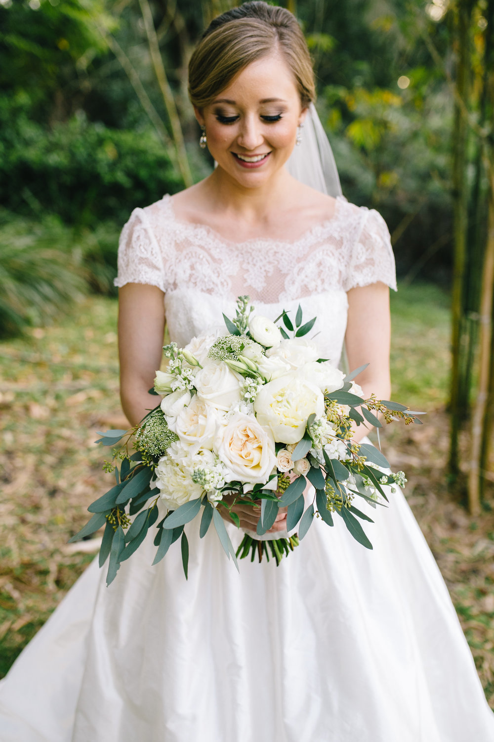 Bridal bouquet full of garden roses