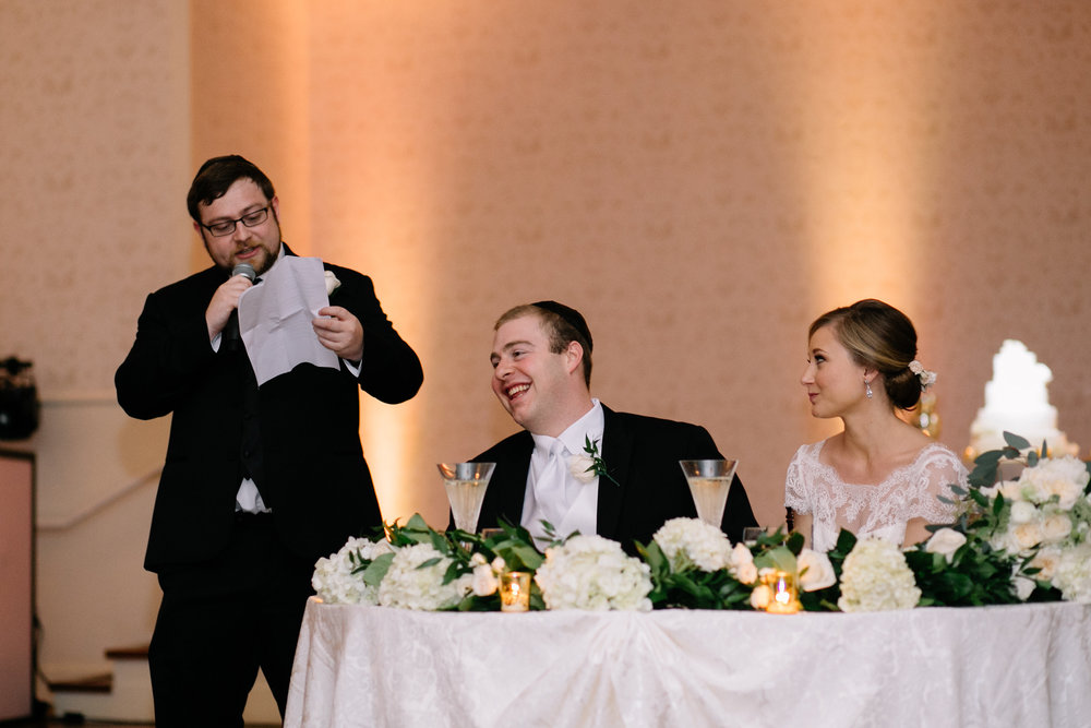 Best man toast at wedding reception, Lake Mary Event Center