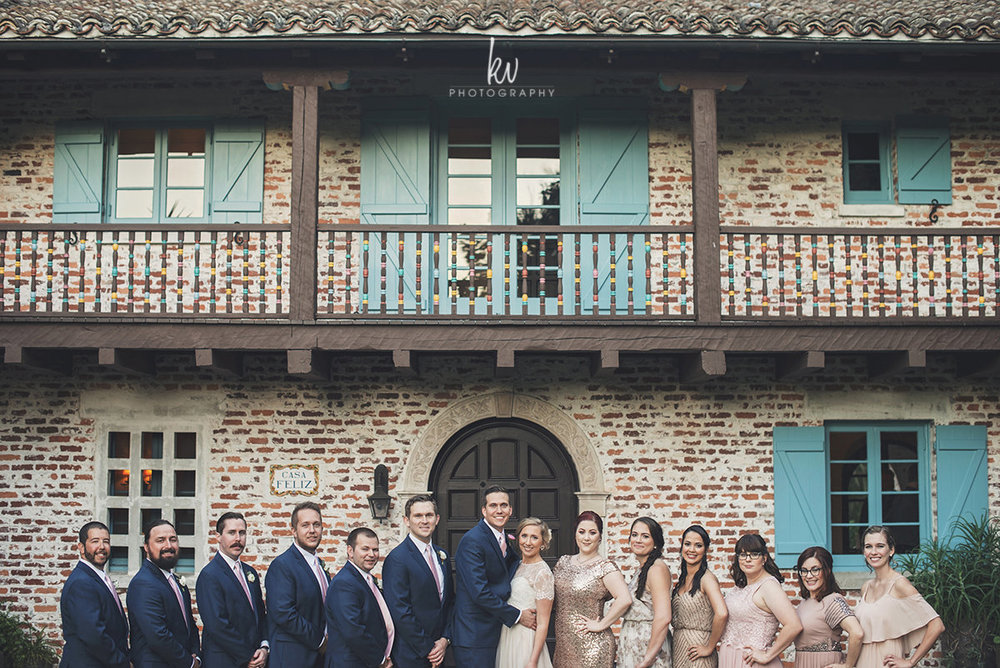 Bridal Party at Casa Feliz