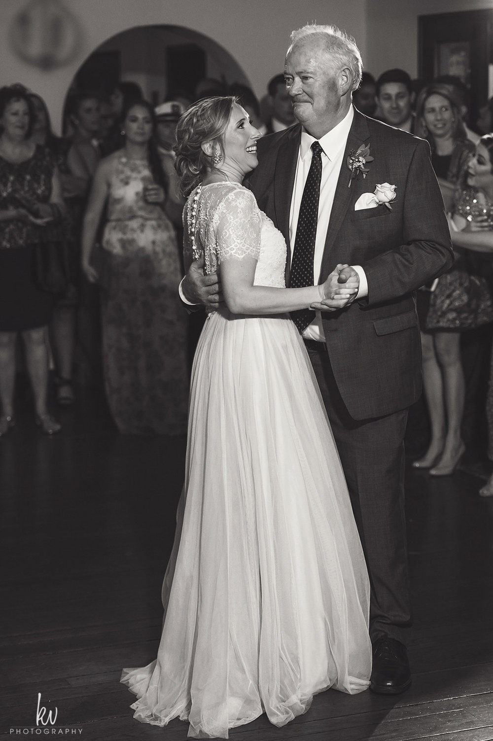 The bride and her father dancing, Winter Park wedding