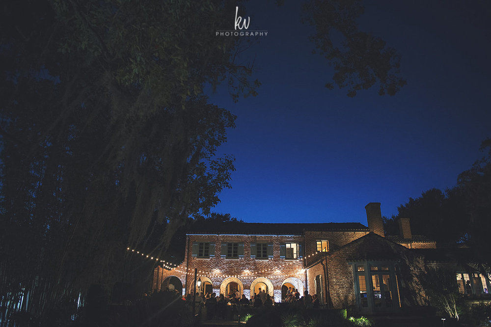 Midnight sky at Casa Feliz, Winter Park Wedding