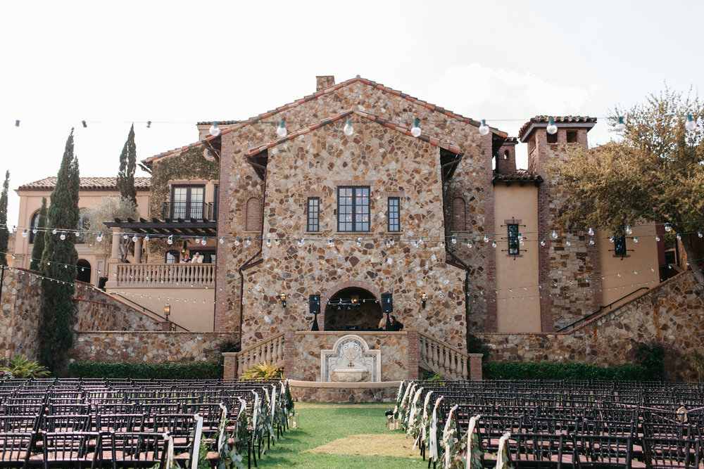 Lawn Wedding Ceremony at Bella Collina