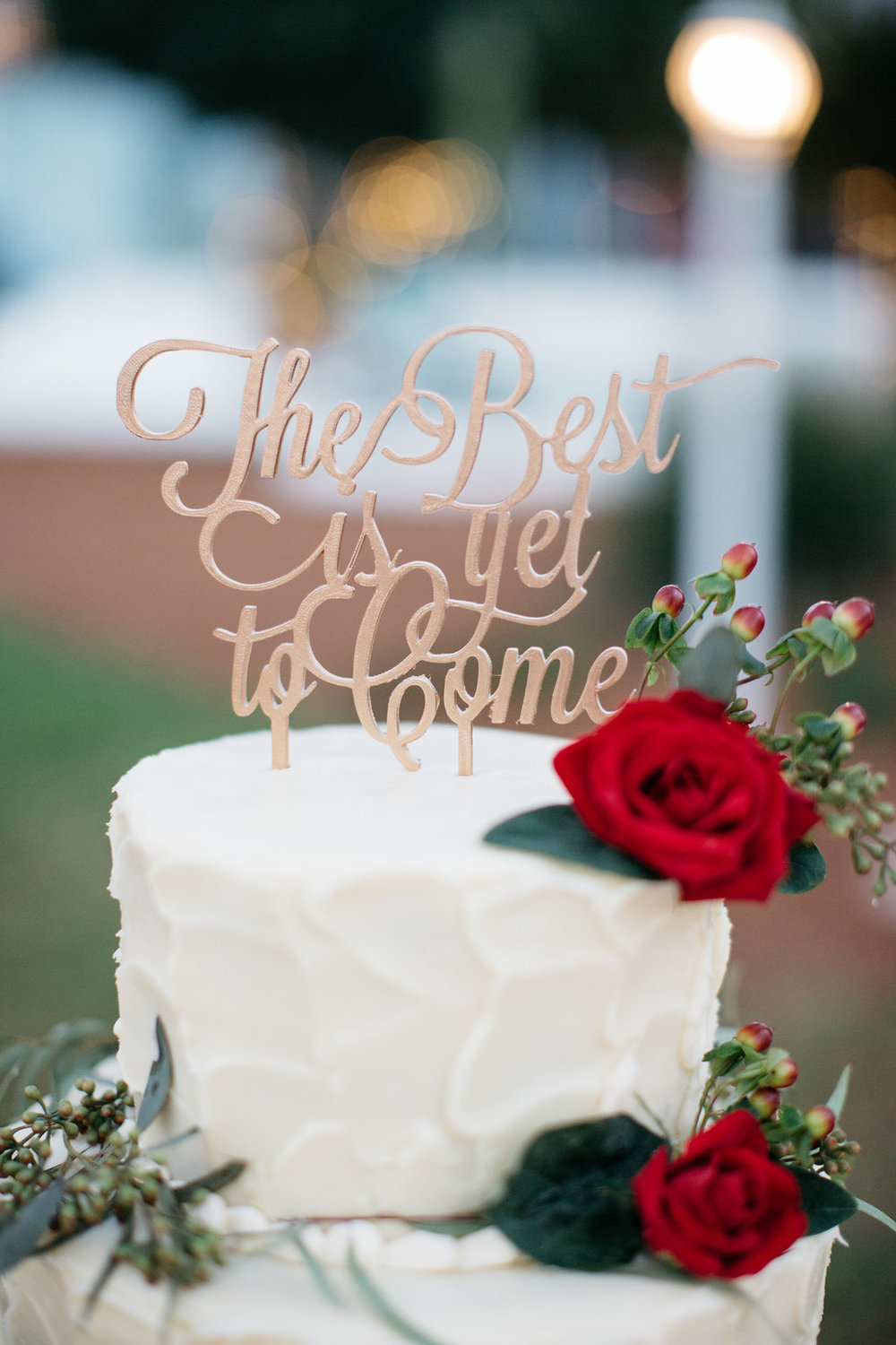 The Best is yet to Come wedding cake topper