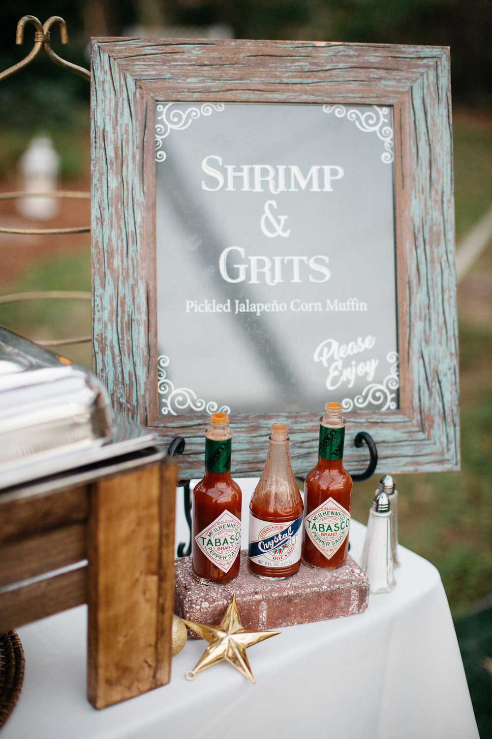 Savannah's shrimp and grits, reception dinner favorites