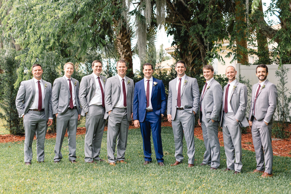 Dapper + dashing groomsmen