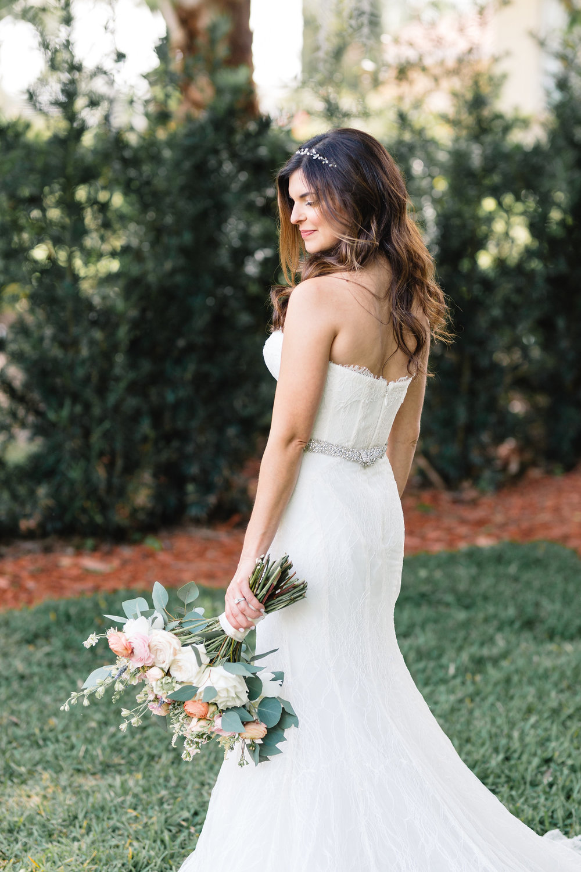 Blushing Orlando bride
