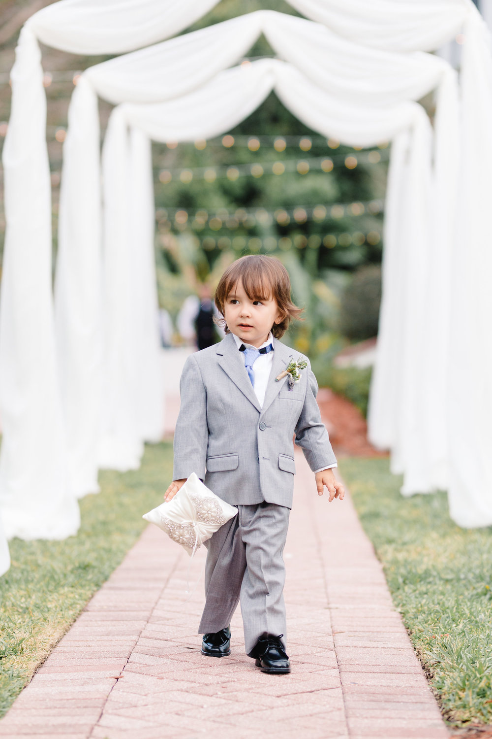 Ring bearer in his little suit, Luxmore wedding