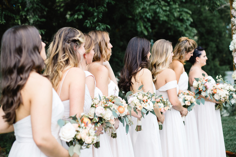 Blush bridesmaids Luxmore Grande Estate