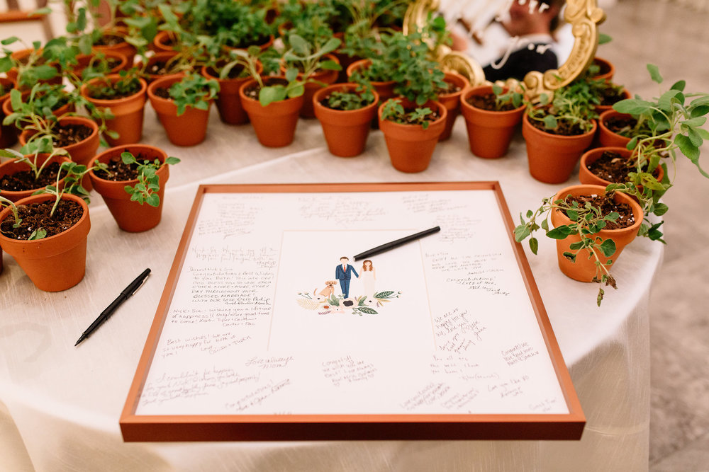 Custom guest book canvas Orlando wedding