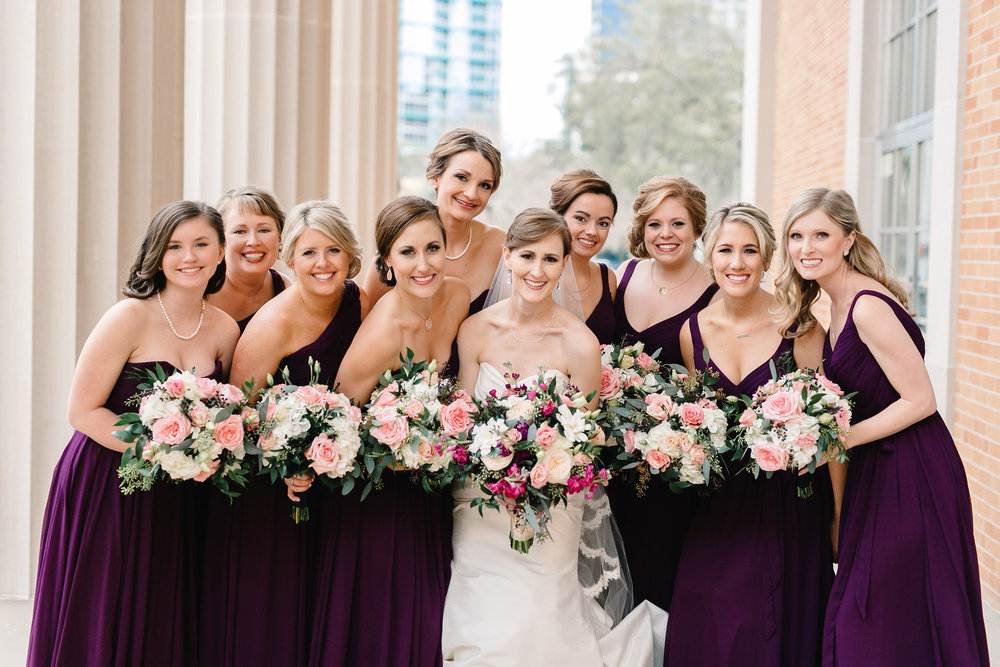 All of the girls, Meredith and her bridesmaids