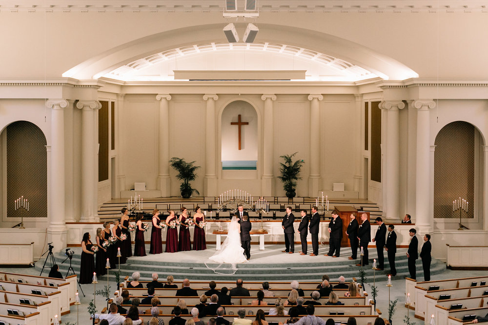 Downtown Baptist Church Wedding Ceremony