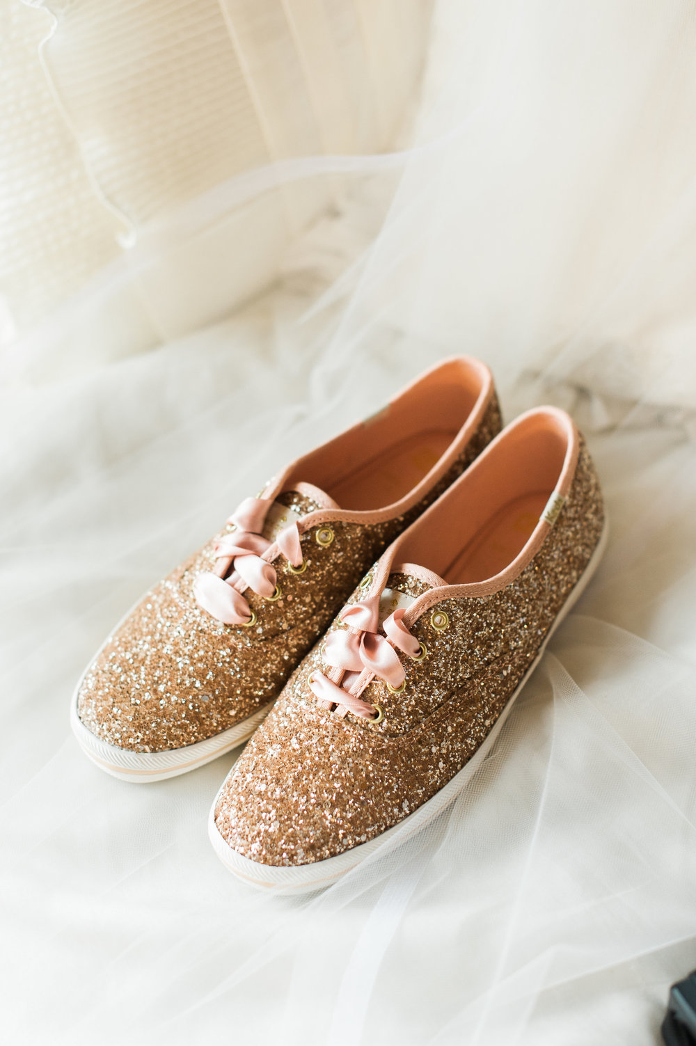 Kate Spade Glittered Pink Keds