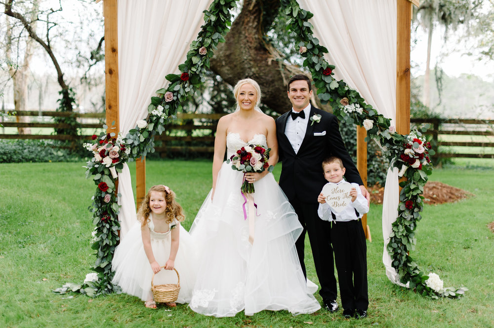 Bride, Groom, Flower girl and Ring bearer
