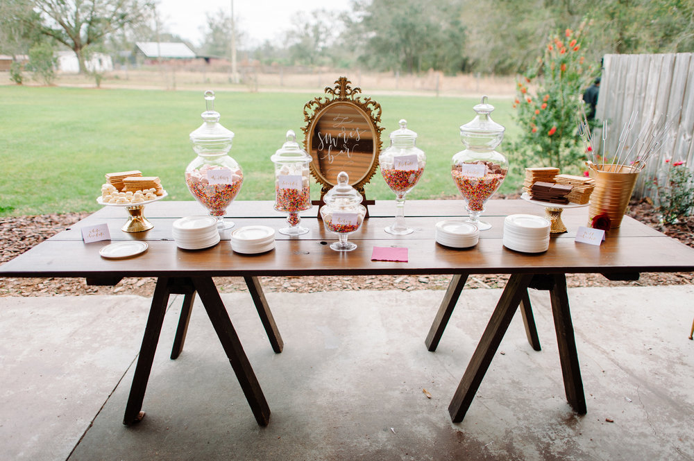 S'mores Bar to complete the perfect wedding reception