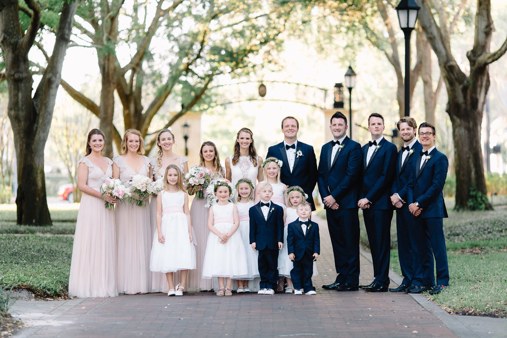 Wedding Party at Rollins College, Winter Park Florida