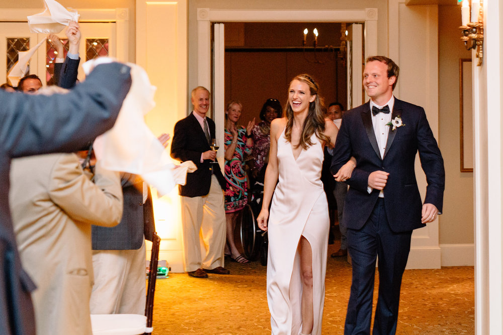 Reception introductions, Winter Park Weddings