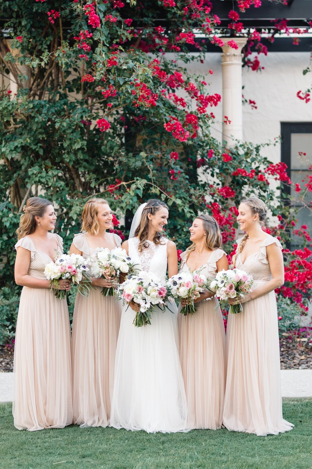 Blush Bridesmaid dresses from Asos, Winter Park Weddings