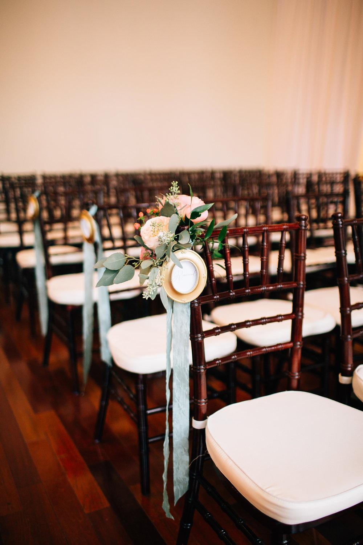 Ceremony details indoor ceremony at Luxmore Grande Estate, Orlando Wedding Planner