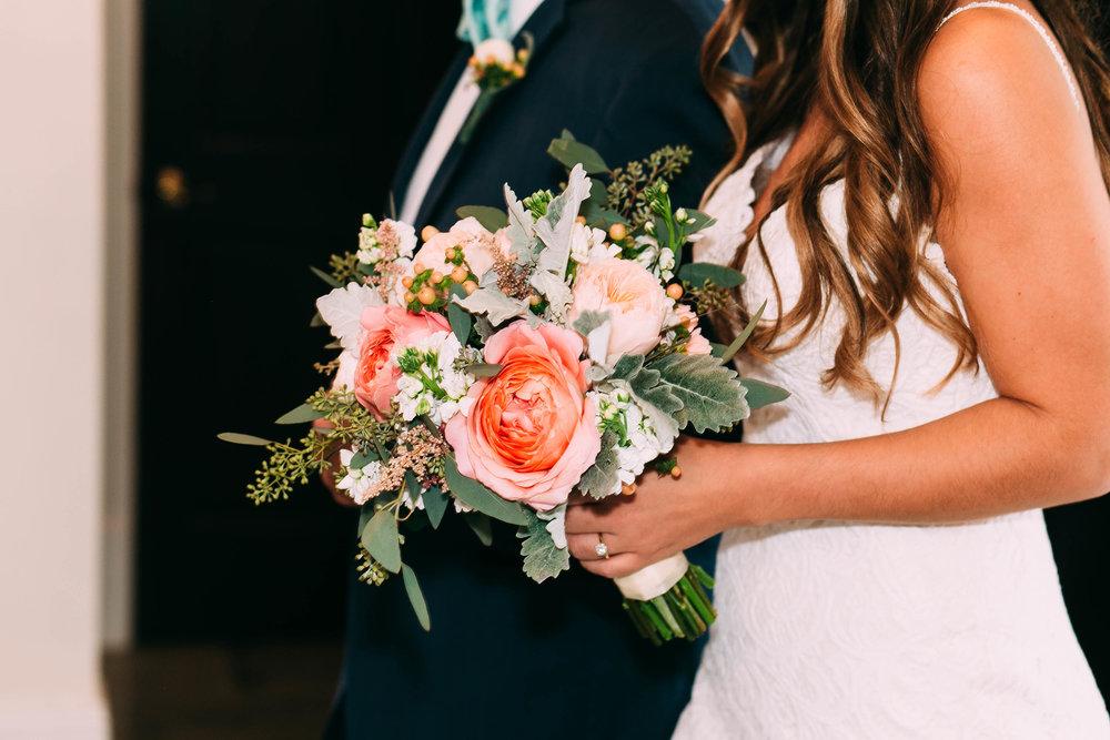 Garden roses, eucalyptus, peony bride's bouquet by Orlando Wedding Florist, Dream Designs Floral