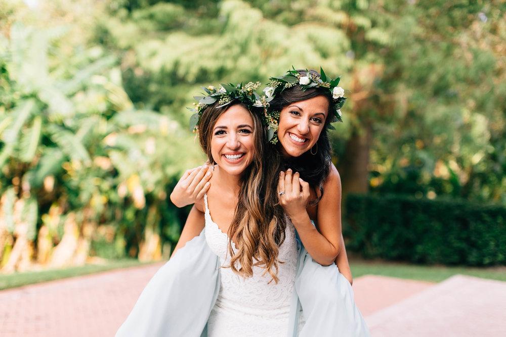 Bride & sister on her back!