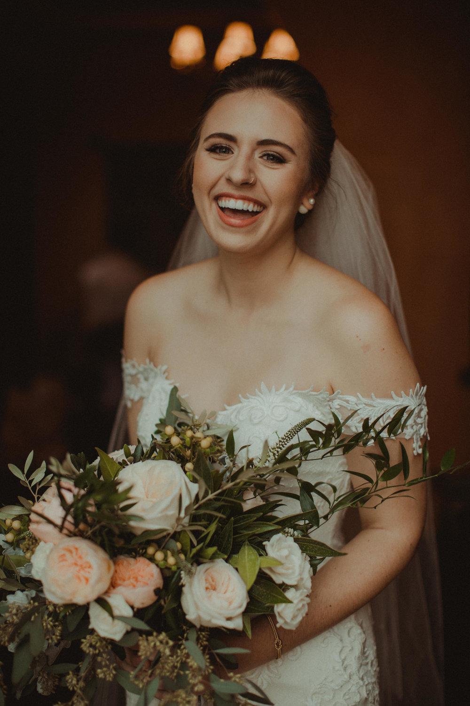 Gabrielle, beautiful blushing bride