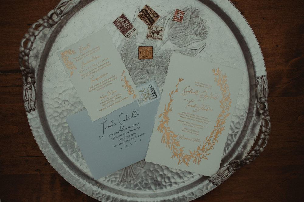 Custom Wedding Invitation Suite by A Paper Wedding