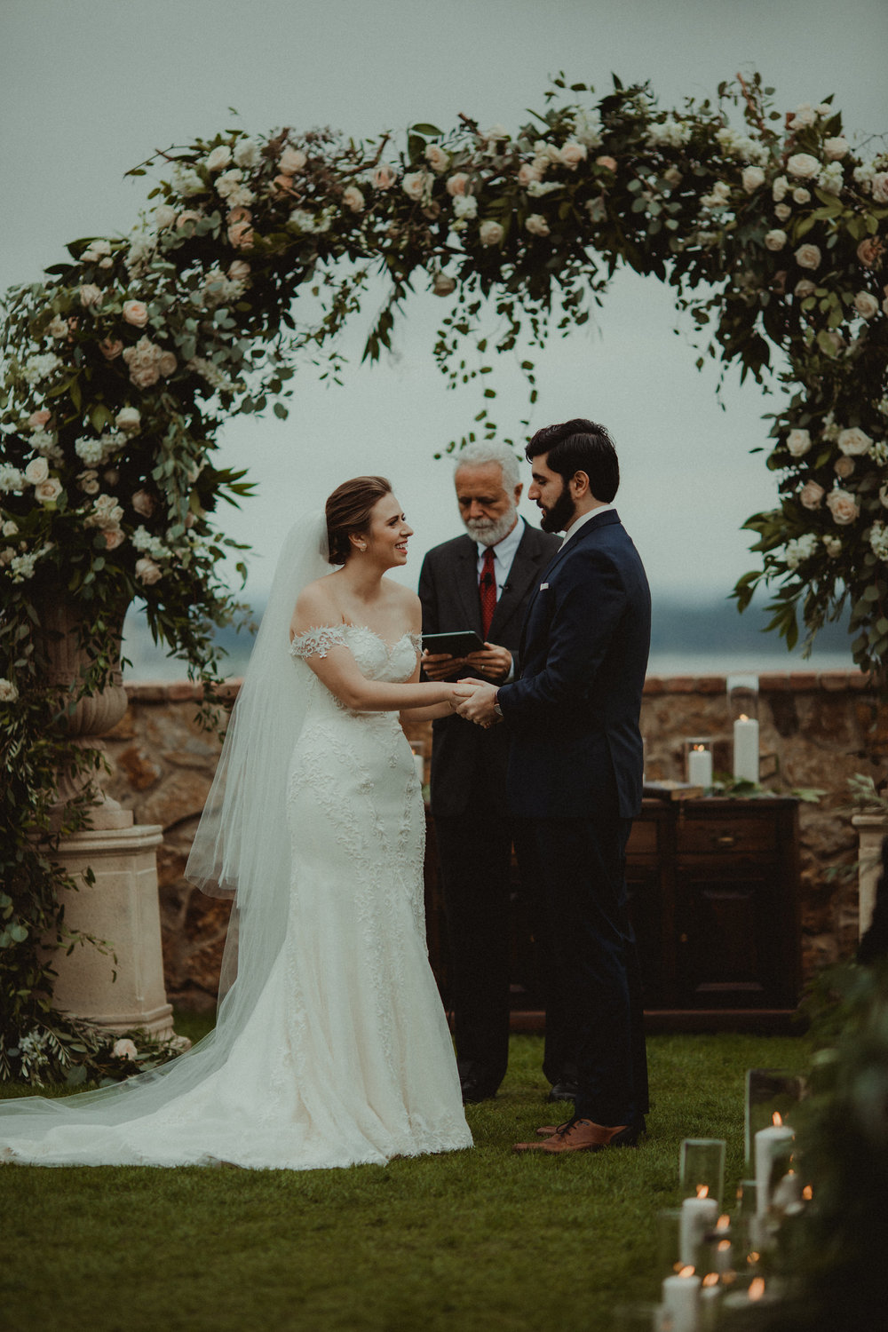 The promise of marriage in witness of their family and friends