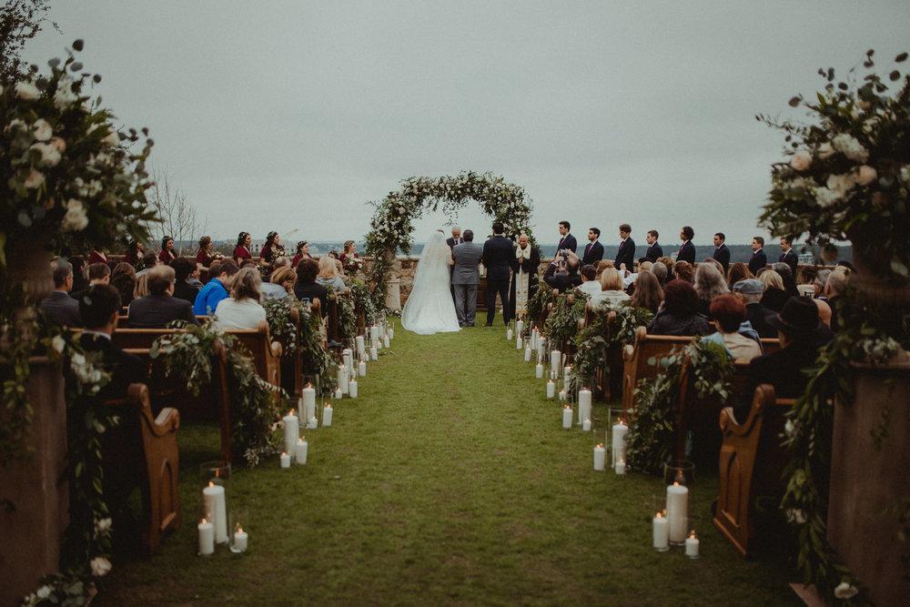 Outdoor Lawn Wedding Ceremony at Bella Collina
