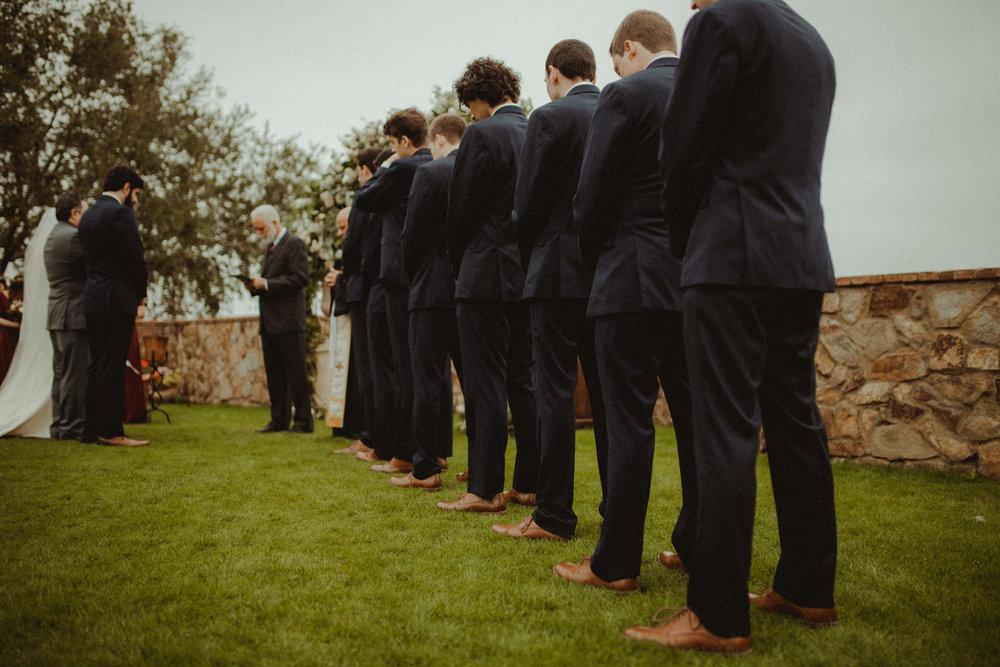 Groomsmen at Bella Collina Ceremony