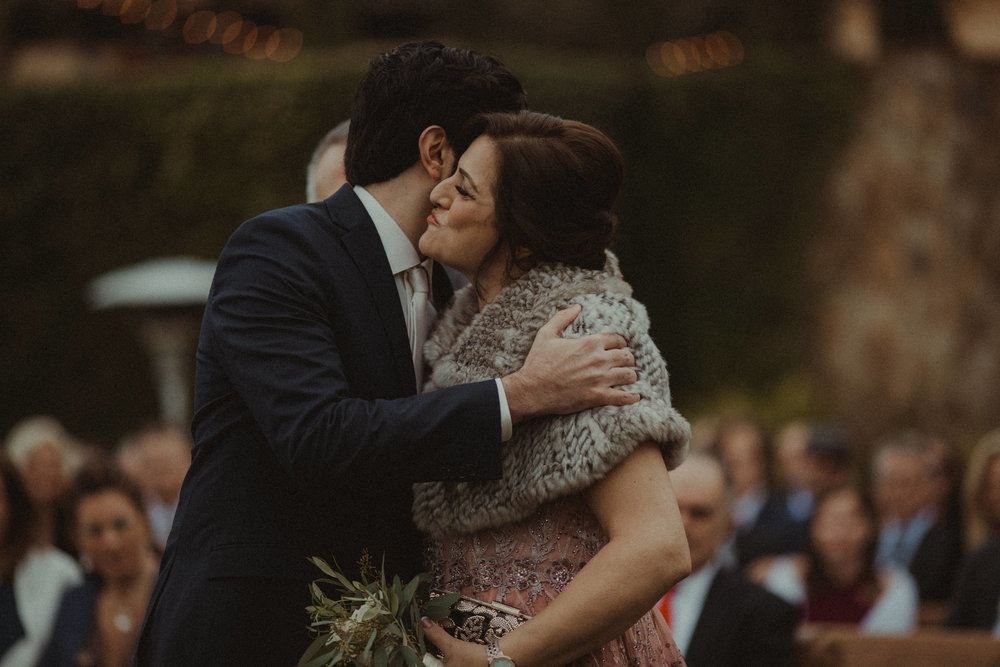 Sweet moments during the wedding processional