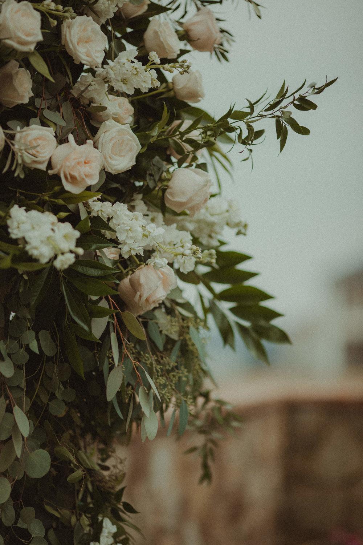 Raining Roses Ceremony Arrangements