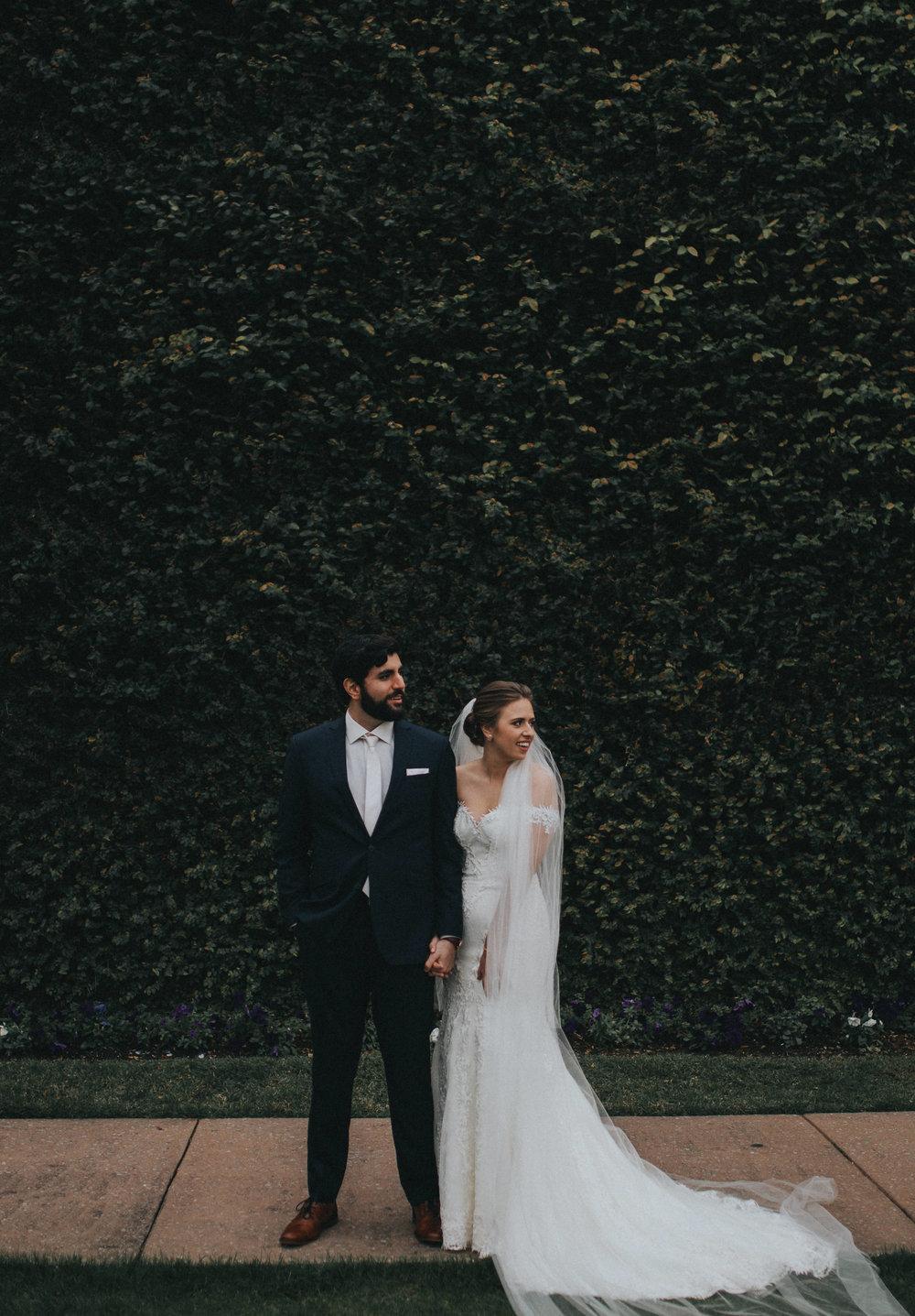 Gorgeous couple on their wedding day