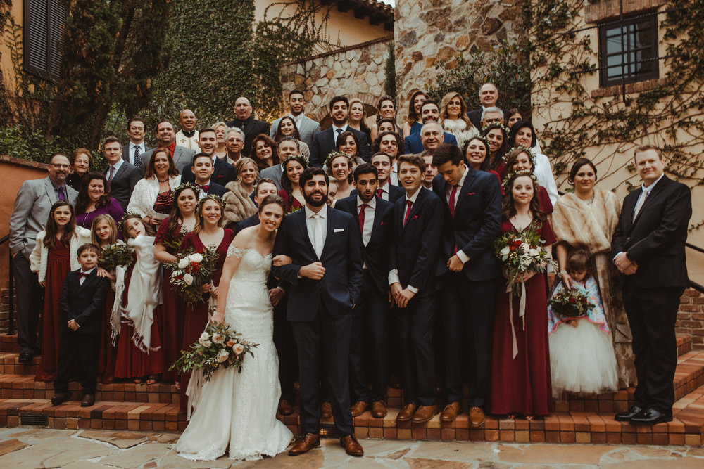 Gabrielle & Tarrik's Wedding Party, full of family and friends