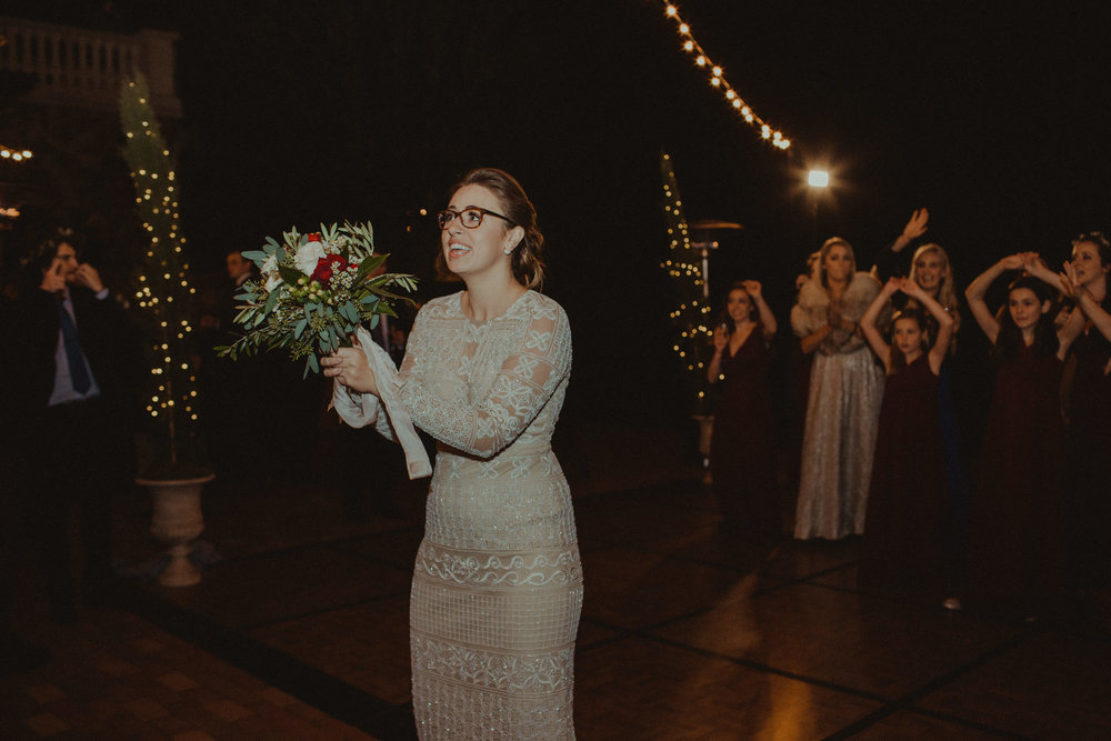 Bridal Bouquet Toss to All of the Single Ladies