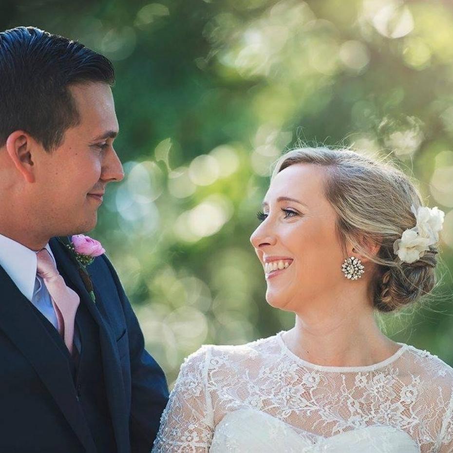 Casa Feliz wedding couple portraits