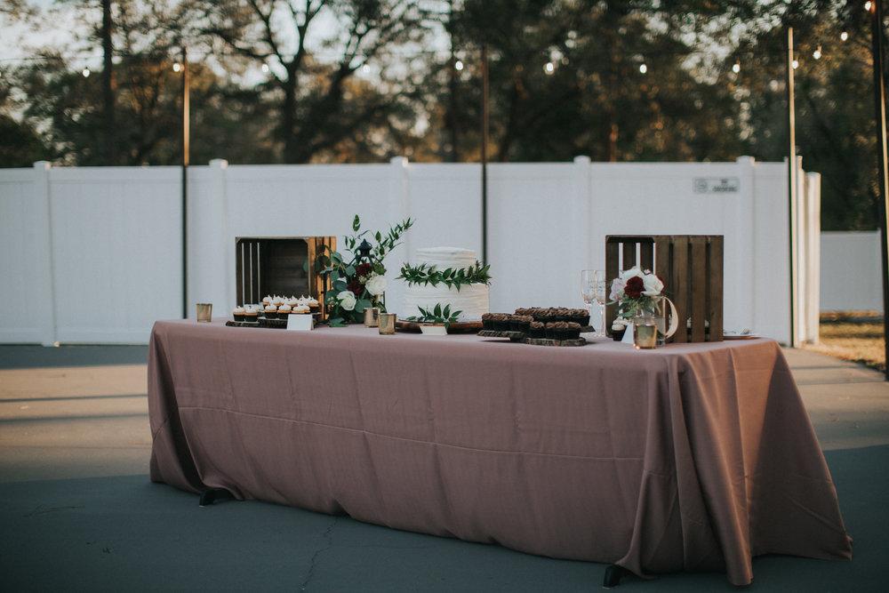 Dessert table courtesy of Sweet Cakes Winter Park