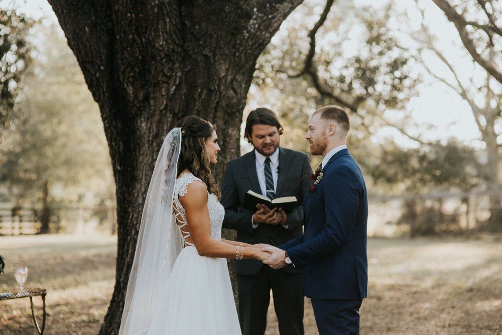 Rustic outside wedding ceremony