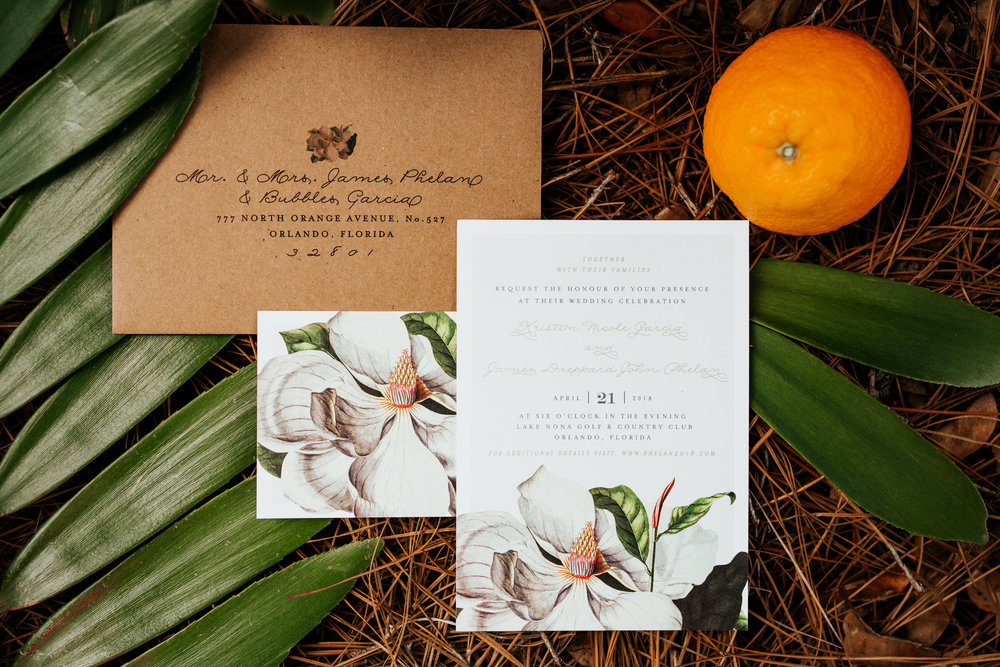 Magnolias & Oranges for an Old Florida Style Wedding in Orlando, Florida  Orlando Wedding Planner Blue Ribbon Weddings  Orlando Wedding Photographer 28 North Photography  Wedding Ceremony & Reception at Lake Nona Golf & Country Club