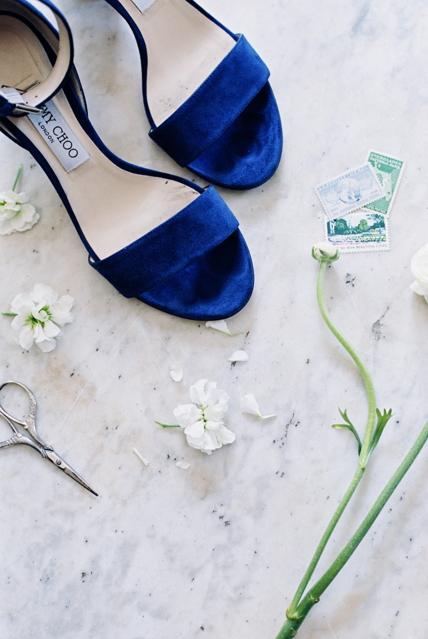 Something Blue with Jimmy Choo  Orlando Wedding Planner Blue Ribbon Weddings  Orlando Wedding Photographer Magnolia & Magpie  Wedding Ceremony at All Saints Church in Winter Park  Wedding Reception at Casa Feliz in Winter Park