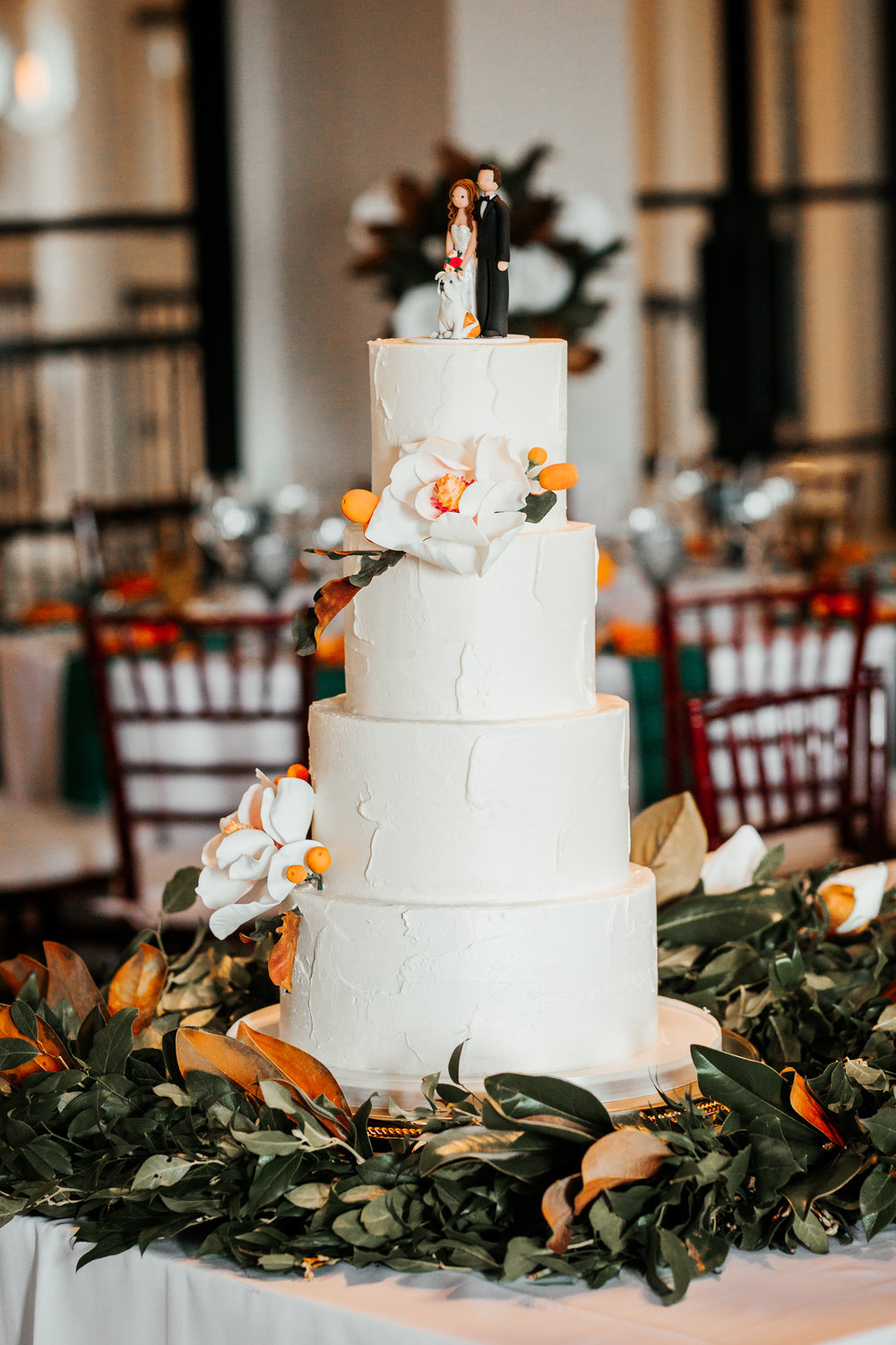 Florida Themed Wedding Cake at Lake Nona Country Club by Le Petit Sweet