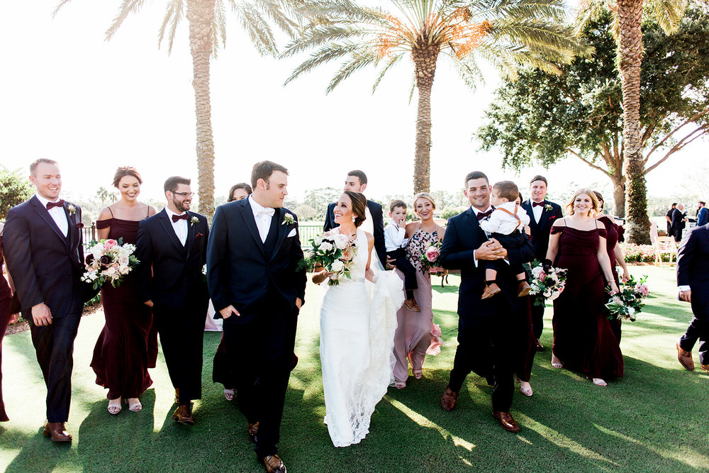 TPC Sawgrass wedding Ponte Vedra Beach Blue Ribbon Wedding Planner Shea Hopely Flowers Debra Eby Photography