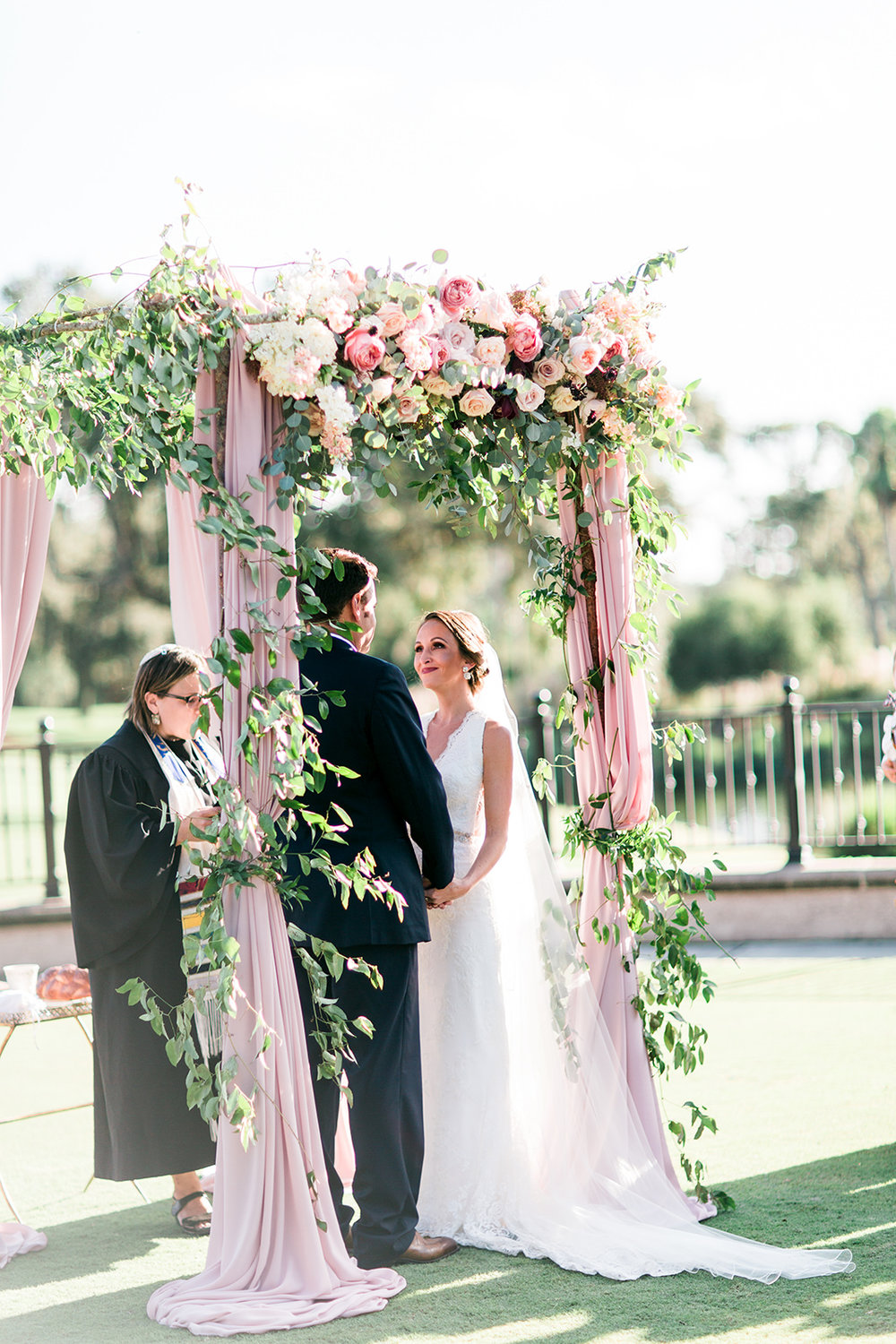 TPC Sawgrass Ceremony Jewish wedding Ponte Vedra Beach Blue Ribbon Wedding Planner Shea Hopely Flowers Debra Eby Photography
