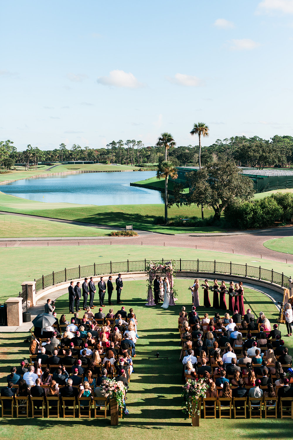 TPC Sawgrass Ceremony wedding Ponte Vedra Beach Blue Ribbon Wedding Planner Shea Hopely Flowers Debra Eby Photography