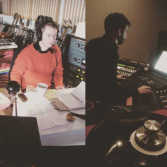 "Georg Buljo mixing & Morgan Nicolaysen mastering our coming album ""Girkásit"". Now in press - release in feb 2017!! #soundofara #ara #Girkasit #georgbuljo"