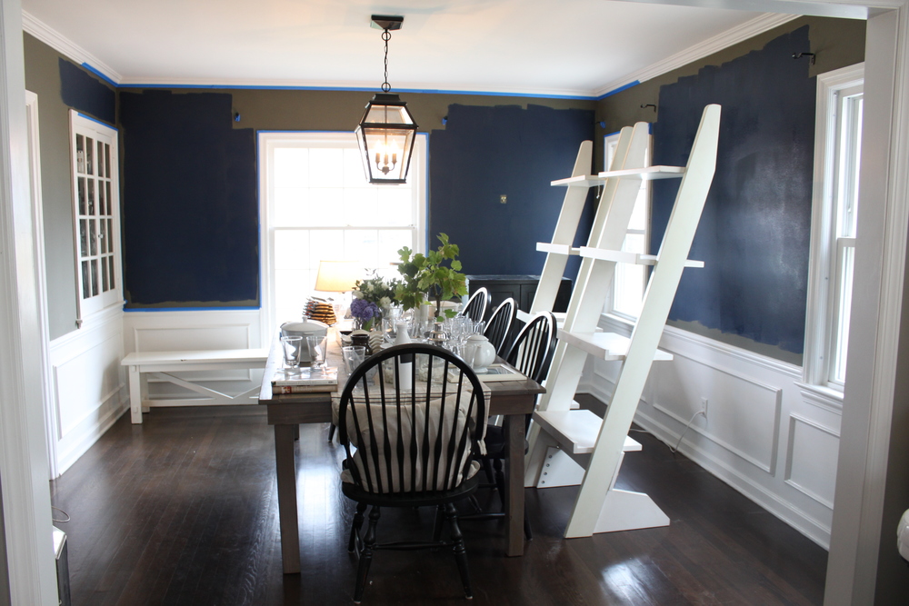 navy dining room curtains what do you think navy dining room the fat hydrangea