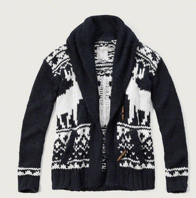 Patterned Boyfriend Cardigan