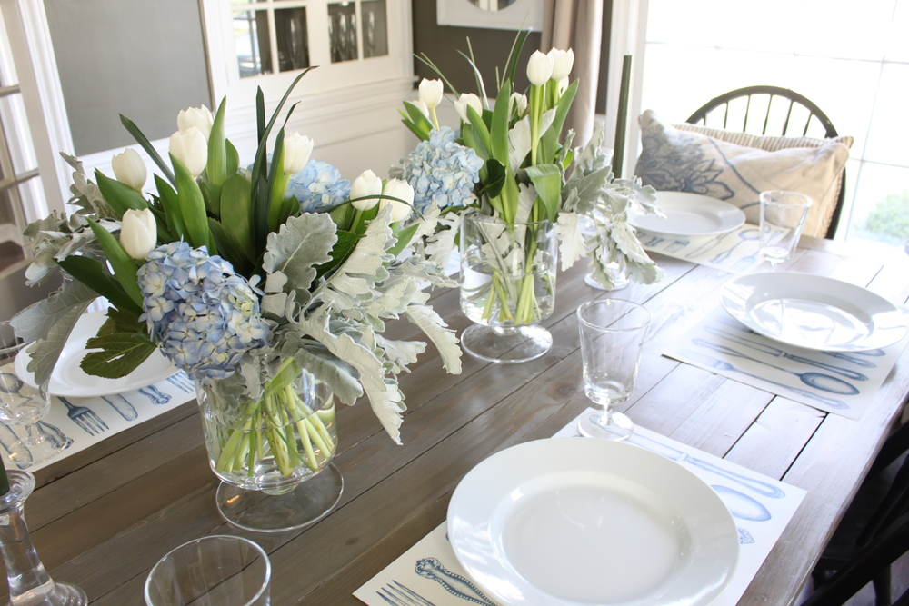 Incroyable Here Are Some Shots Of Our Easter Table Setting And Our Wonderful Day: