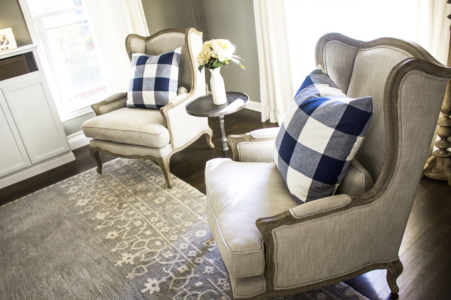 Groovy Family Room Makeover Phase Iii New Chairs The Fat Hydrangea Ibusinesslaw Wood Chair Design Ideas Ibusinesslaworg